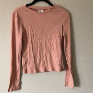 H&M long sleeve ribbed crop top